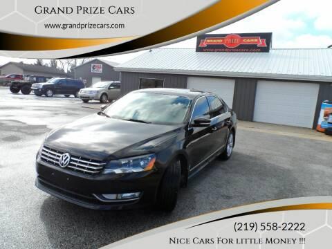 2013 Volkswagen Passat for sale at Grand Prize Cars in Cedar Lake IN
