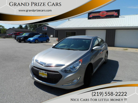 2013 Hyundai Sonata Hybrid for sale at Grand Prize Cars in Cedar Lake IN
