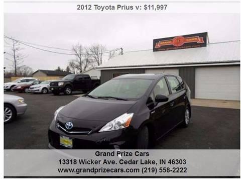 2012 Toyota Prius v for sale at Grand Prize Cars in Cedar Lake IN