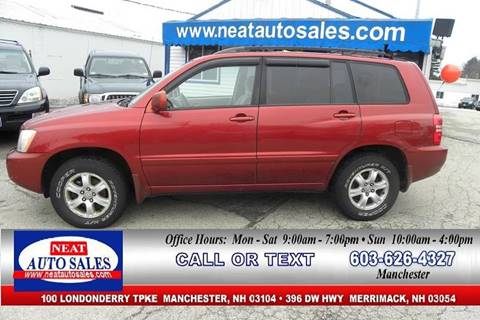 2003 Toyota Highlander For Sale In Manchester, NH