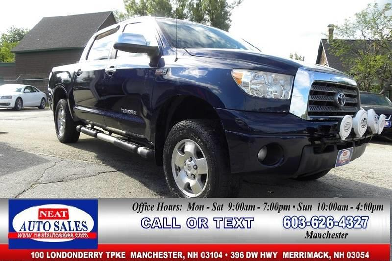 2007 Toyota Tundra For Sale At Neat Auto Sales In Manchester NH
