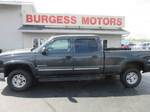 2005 Chevrolet Silverado 2500HD for sale at Burgess Motors Inc in Michigan City IN