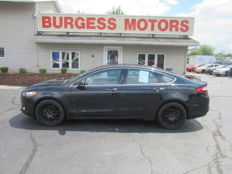 2013 Ford Fusion for sale at Burgess Motors Inc in Michigan City IN