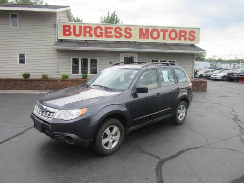 2013 Subaru Forester for sale at Burgess Motors Inc in Michigan City IN