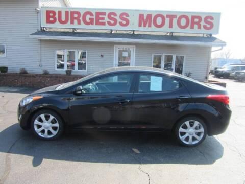 2011 Hyundai Elantra for sale at Burgess Motors Inc in Michigan City IN