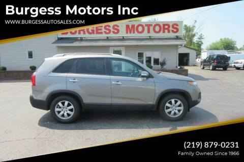 2013 Kia Sorento for sale at Burgess Motors Inc in Michigan City IN