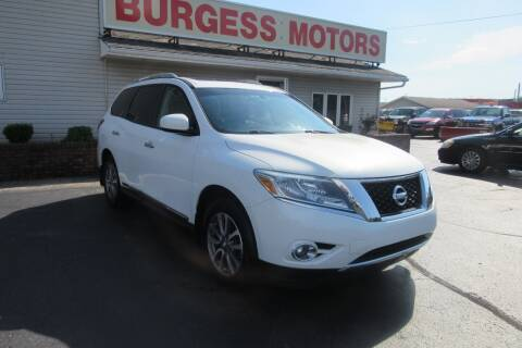 2014 Nissan Pathfinder for sale at Burgess Motors Inc in Michigan City IN
