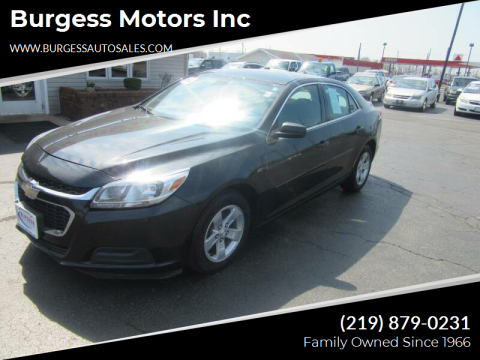 2014 Chevrolet Malibu for sale at Burgess Motors Inc in Michigan City IN