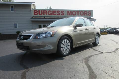 2009 Honda Accord for sale at Burgess Motors Inc in Michigan City IN