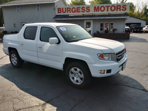 2010 Honda Ridgeline for sale at Burgess Motors Inc in Michigan City IN