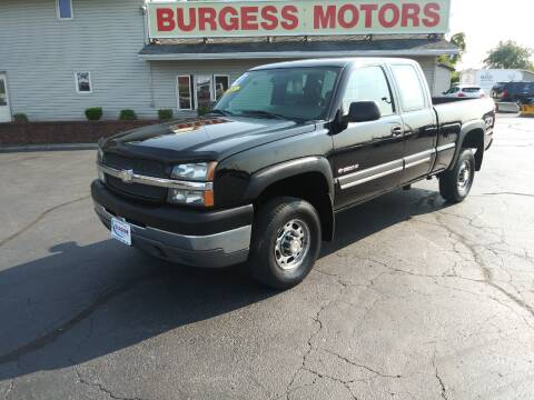 2004 Chevrolet Silverado 2500HD for sale at Burgess Motors Inc in Michigan City IN