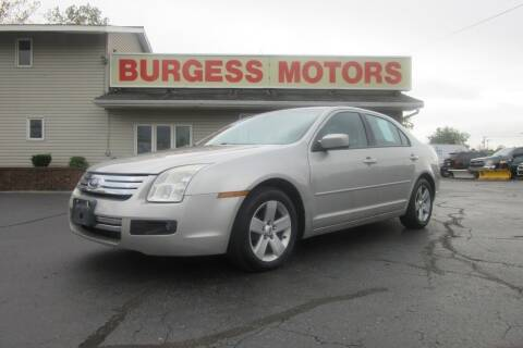 2008 Ford Fusion for sale at Burgess Motors Inc in Michigan City IN