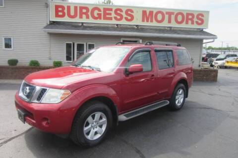 2011 Nissan Pathfinder for sale at Burgess Motors Inc in Michigan City IN