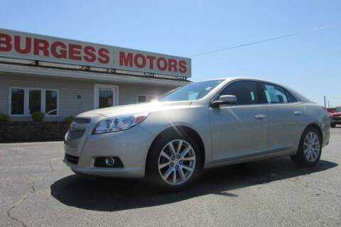 2013 Chevrolet Malibu for sale at Burgess Motors Inc in Michigan City IN