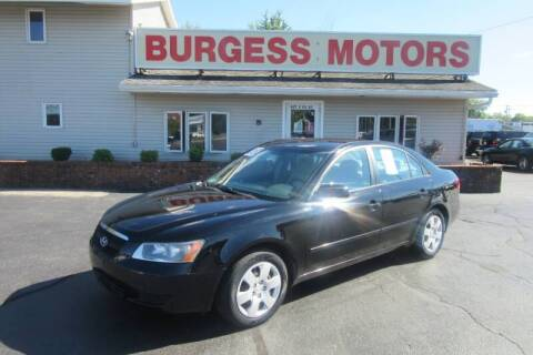 2008 Hyundai Sonata for sale at Burgess Motors Inc in Michigan City IN