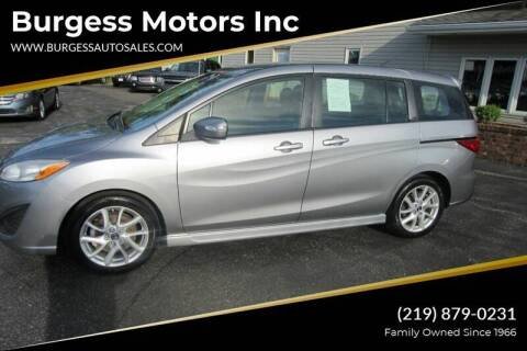 2013 Mazda MAZDA5 for sale at Burgess Motors Inc in Michigan City IN