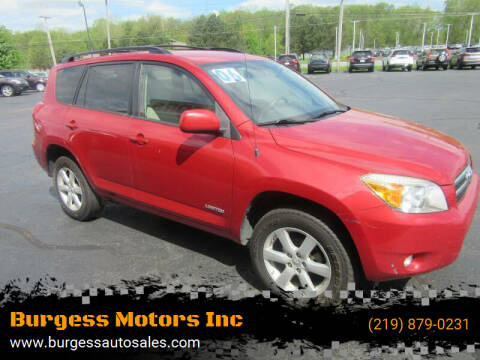 2006 Toyota RAV4 for sale at Burgess Motors Inc in Michigan City IN