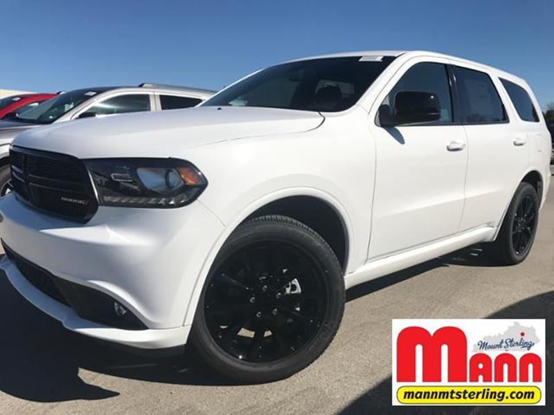 2018 Dodge Durango Awd Sxt 4dr Suv In Mt Sterling Ky Mann Chrysler