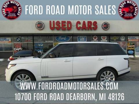 2015 Land Rover Range Rover for sale in Dearborn, MI