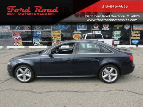2012 Audi A4 for sale at Ford Road Motor Sales in Dearborn MI