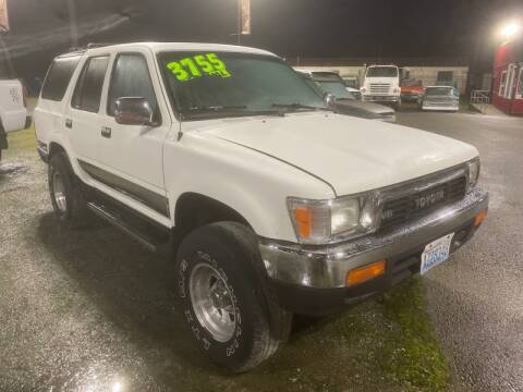 1990 Toyota 4Runner SR5 V6 for sale at MILLENNIUM MOTORS INC in Monroe WA