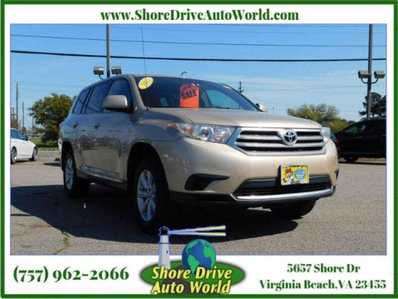 2012 Toyota Highlander for sale at Shore Drive Auto World in Virginia Beach VA