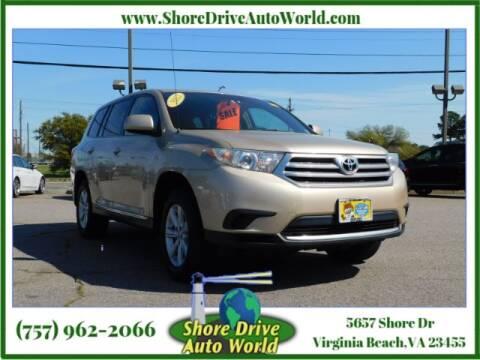 2012 Toyota Highlander for sale at Shore Drive Auto World in Virginia Beach VA