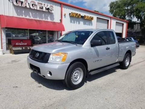2009 Nissan Titan LE FFV for sale at Gagel's Auto Sales in Gibsonton FL