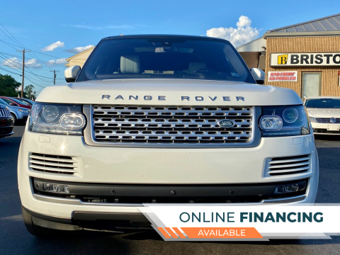 2016 Land Rover Range Rover for sale at Bristol Auto Mall in Levittown PA