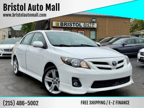 2013 Toyota Corolla for sale at Bristol Auto Mall in Levittown PA
