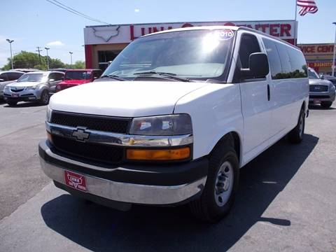 2010 Chevrolet Express Passenger for sale at LUNA CAR CENTER - Commercial Vehicles in San Antonio TX