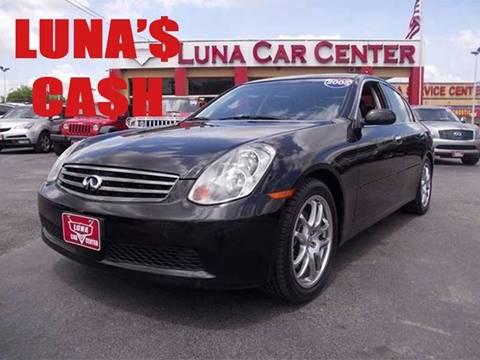 2005 Infiniti G35 for sale at LUNA CAR CENTER in San Antonio TX
