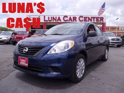 2013 Nissan Versa for sale at LUNA CAR CENTER in San Antonio TX