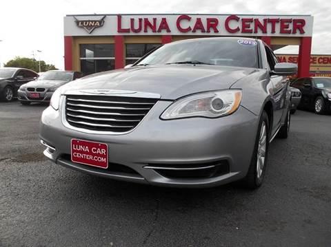 2013 Chrysler 200 for sale at LUNA CAR CENTER in San Antonio TX