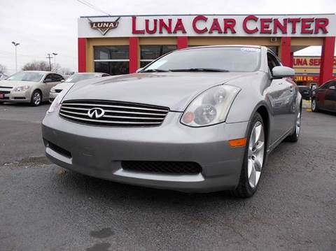 2004 Infiniti G35 for sale at LUNA CAR CENTER in San Antonio TX