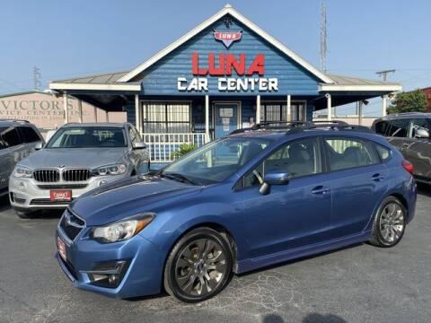 2016 Subaru Impreza for sale at LUNA CAR CENTER in San Antonio TX