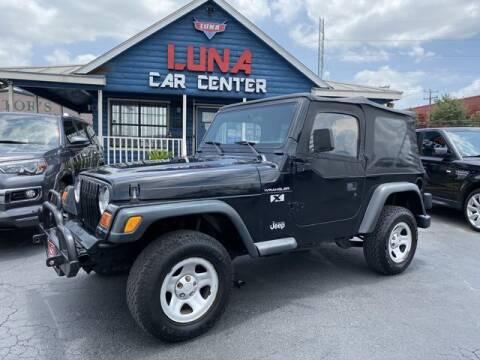 2002 Jeep Wrangler for sale at LUNA CAR CENTER in San Antonio TX