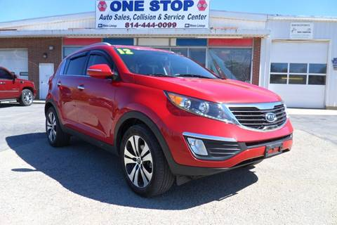 2012 Kia Sportage for sale at One Stop Auto Sales, Collision & Service Center in Somerset PA
