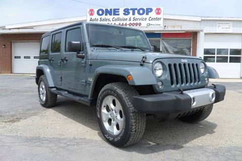 2015 Jeep Wrangler Unlimited for sale at One Stop Auto Sales, Collision & Service Center in Somerset PA