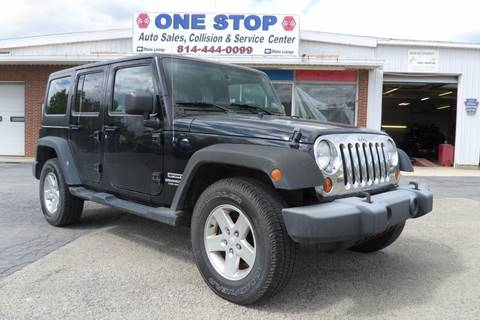2014 Jeep Wrangler Unlimited for sale at One Stop Auto Sales, Collision & Service Center in Somerset PA