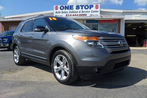 2014 Ford Explorer for sale at One Stop Auto Sales, Collision & Service Center in Somerset PA
