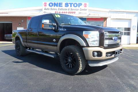 2013 Ford F-250 Super Duty for sale at One Stop Auto Sales, Collision & Service Center in Somerset PA
