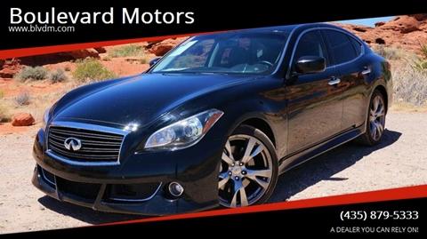 2011 Infiniti M56 for sale at Boulevard Motors in St George UT