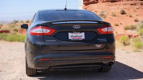 2013 ford fusion hybrid titanium 4dr sedan in st george ut