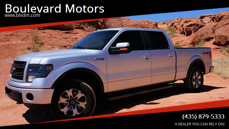 2013 Ford F-150 for sale at Boulevard Motors in St George UT