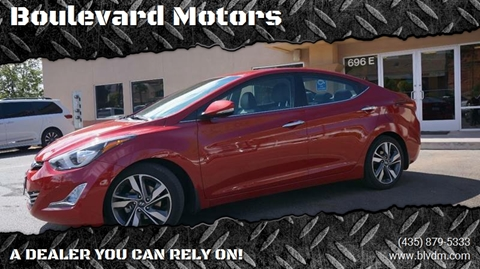 2015 Hyundai Elantra for sale at Boulevard Motors in St George UT