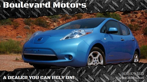 2012 Nissan LEAF for sale at Boulevard Motors in St George UT