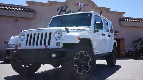 2016 Jeep Wrangler Unlimited for sale at Boulevard Motors in St George UT