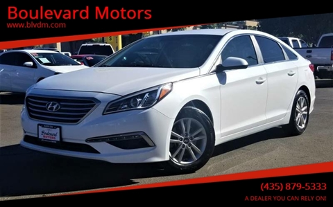 2015 Hyundai Sonata for sale at Boulevard Motors in St George UT
