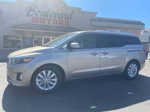 2016 Kia Sedona for sale at Boulevard Motors in St George UT